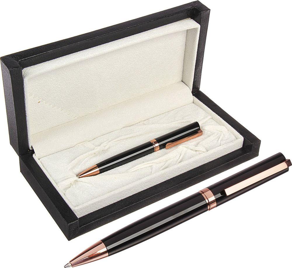 Ручка подарочная шариковая Calligrata  Президент , 3604830, в футляре, поворотная, корпус черный, золотой