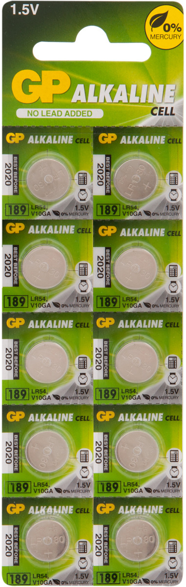 Батарейка GP Batteries 189FRA-2C10, 2835, 10 шт цена 2017
