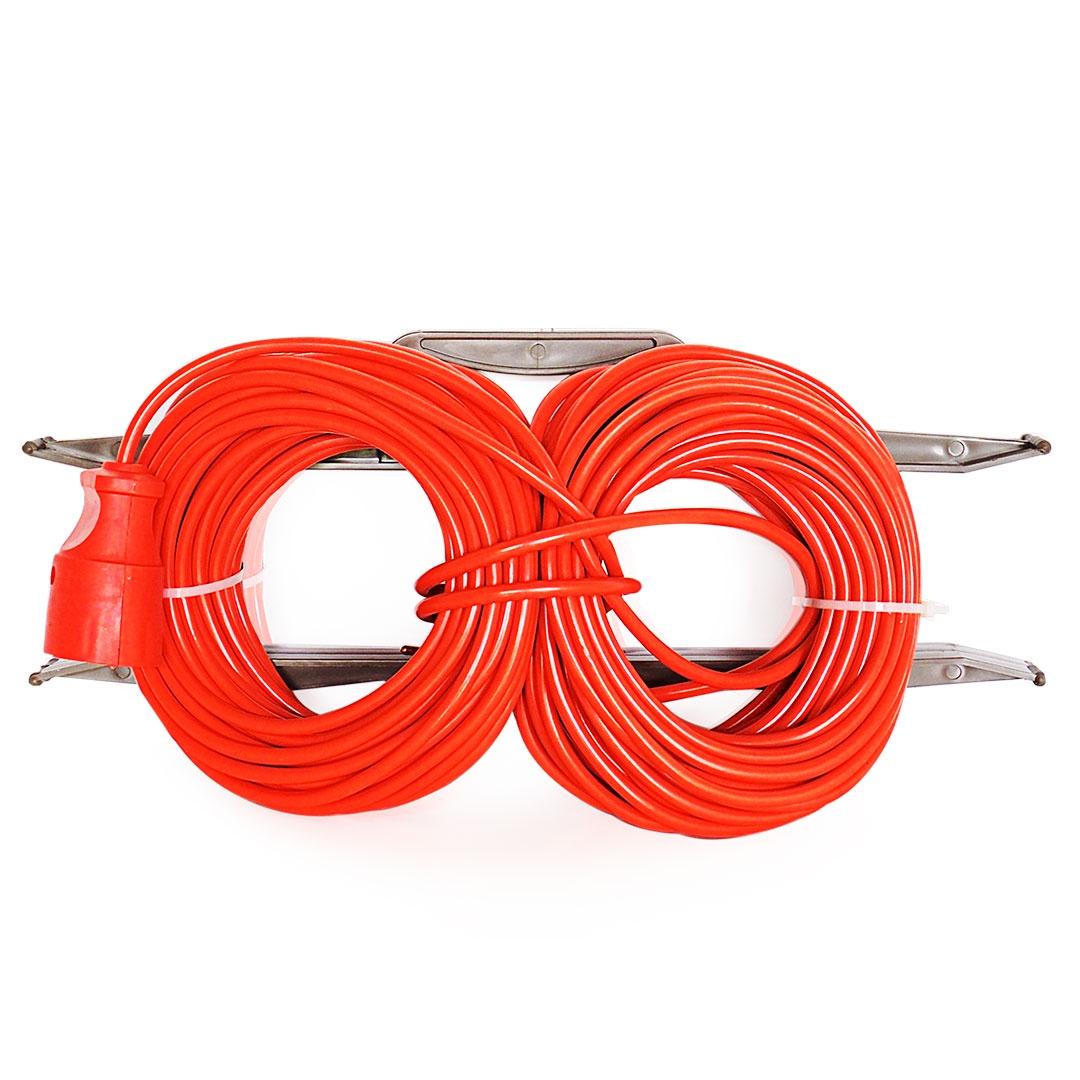 Удлинитель Glanzen силовой на рамке ER-10-001 10м, оранжевый