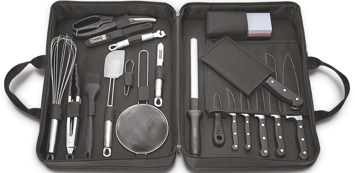 Набор кухонных ножей Tramontina Century, 24099/027-TR, черный, 20 предметов