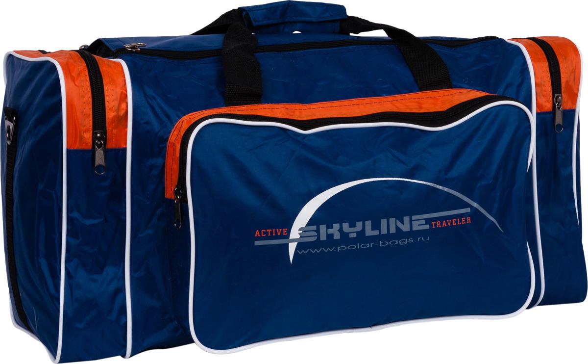 Сумка дорожная Polar Нейлон, 6008, синий, оранжевый, 50 л сумка спортивная polar цвет синий оранжевый 30 5 л 6007