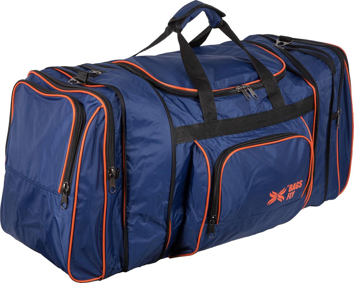 Сумка дорожная Polar, 6072, синий, оранжевый, 102,5 (128) л