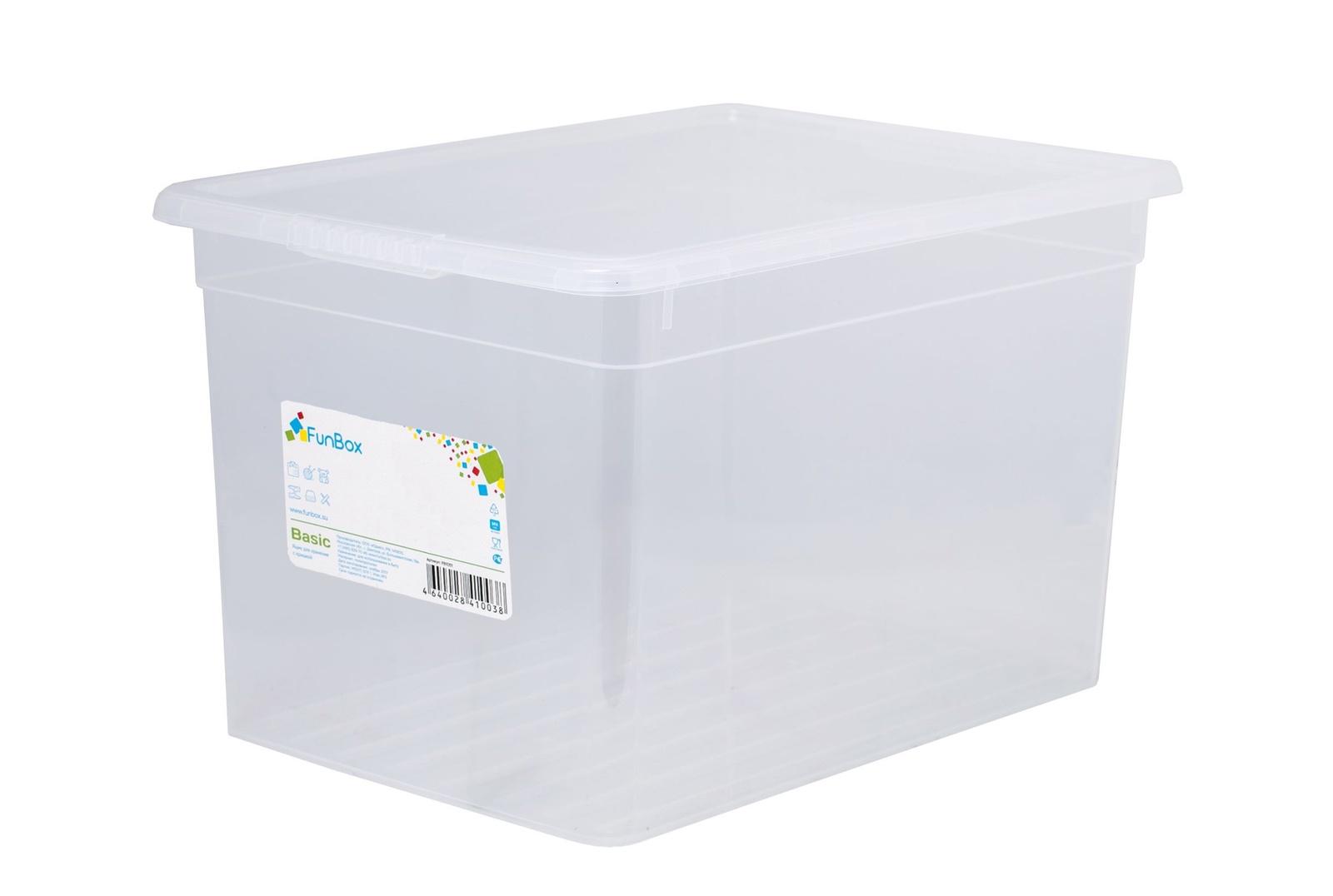Ящик для хранения с крышкой 20л Basic