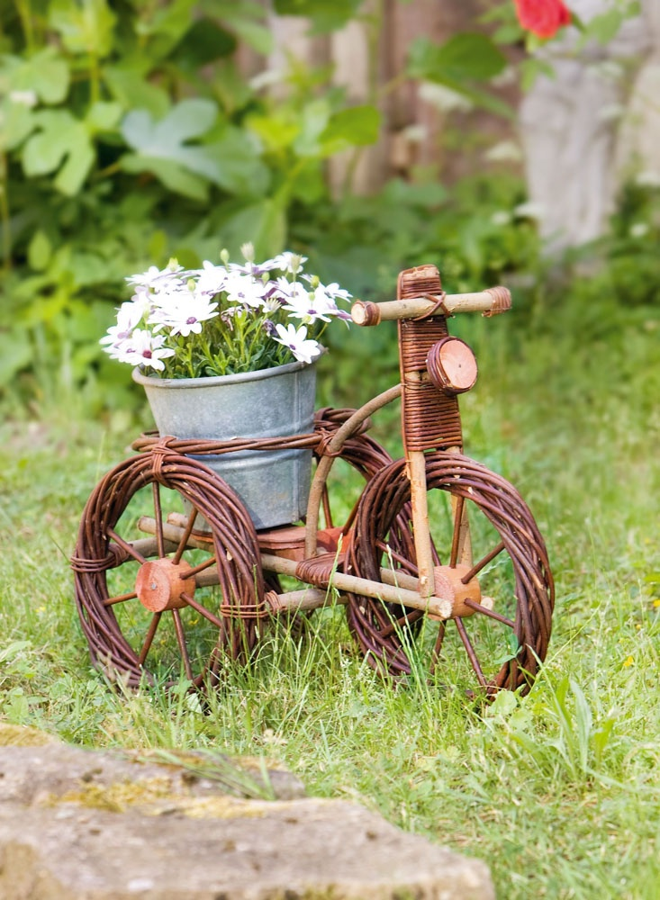 Подставка для цветов ХИТ - декор Велосипед 03777, коричневый, 62 х 30 х 50 см декор настенный gardman морской конек 25 х 62 см 17380
