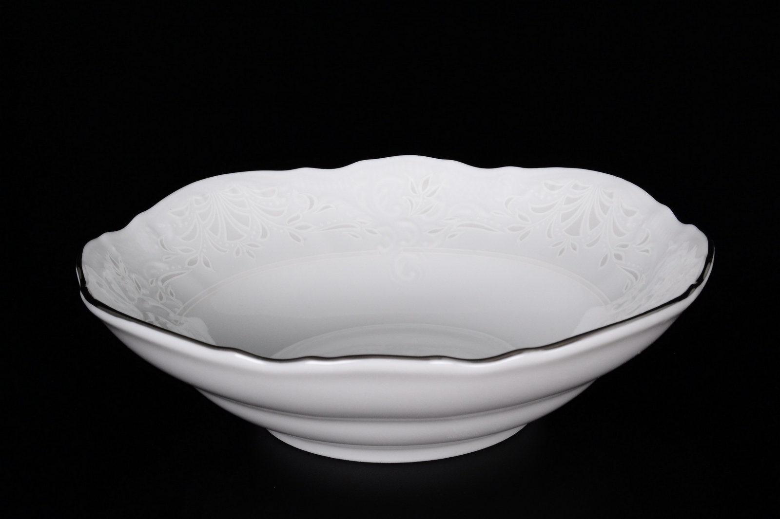 Набор салатников Bernadotte, 07078, белый, серебристый, 13 см, 6 шт