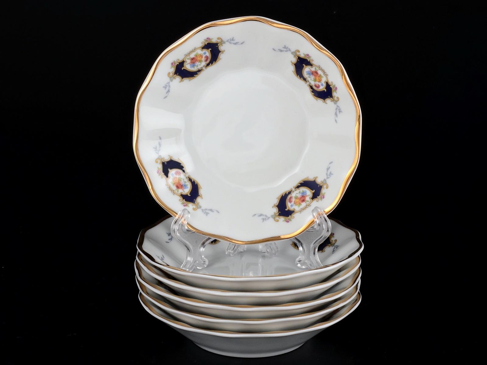 Набор салатников Bernadotte, 07061, белый, синий, 13 см, 6 шт