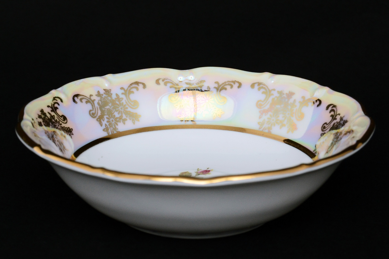 """Набор салатников Carlsbad """"Фредерика Роза"""", 14157, белый, золотой, 13 см, 6 шт"""
