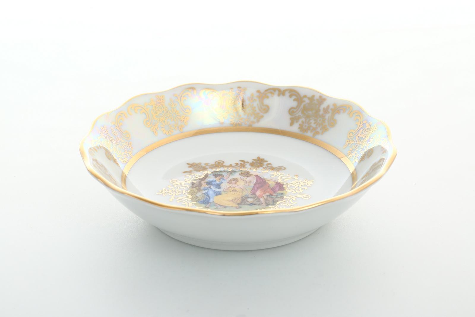 Набор салатников Queens Crown, 28695, белый, золотой, 13 см, 6 шт