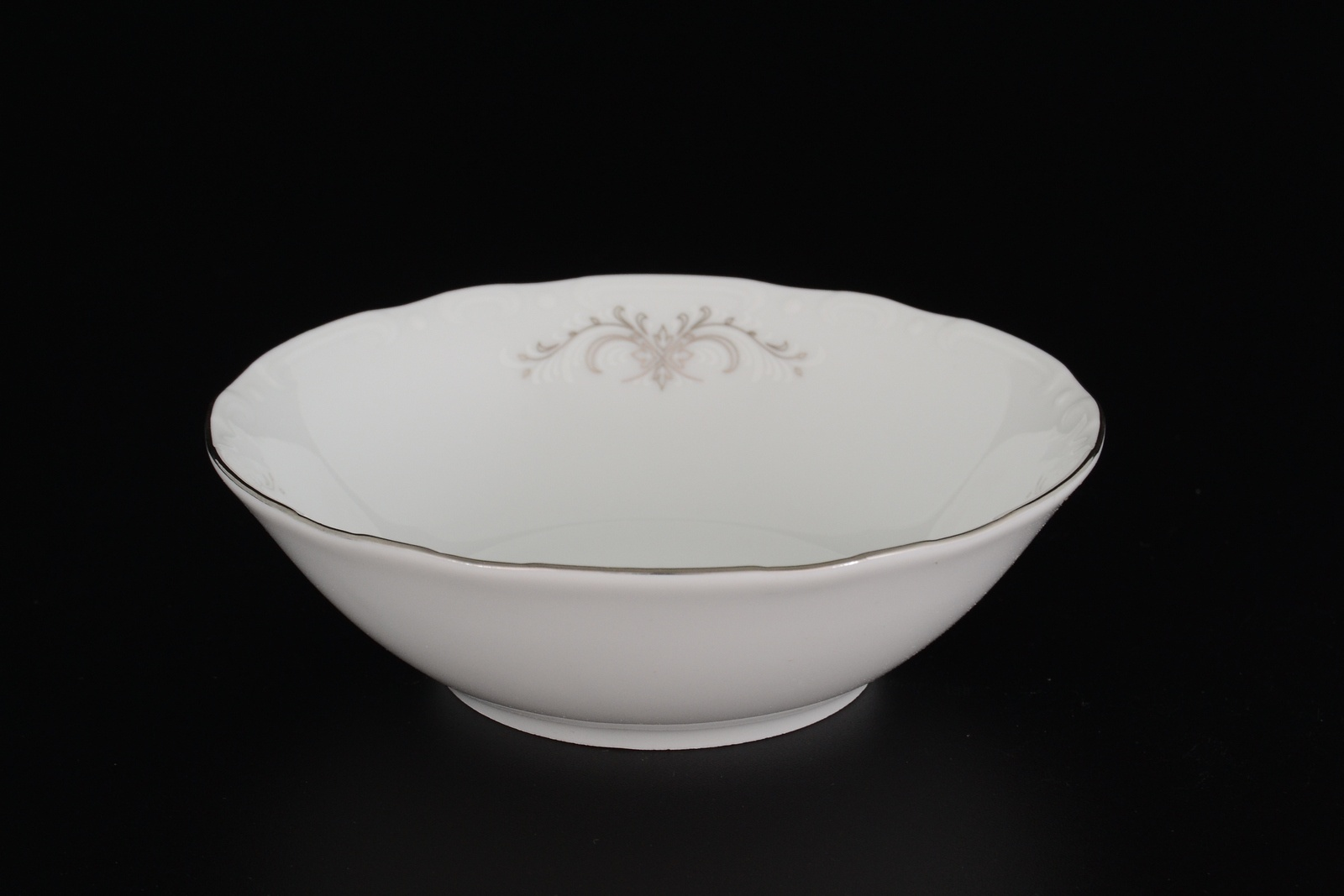Набор салатников Thun 13 см, 15931, белый, серебристый, 6 шт