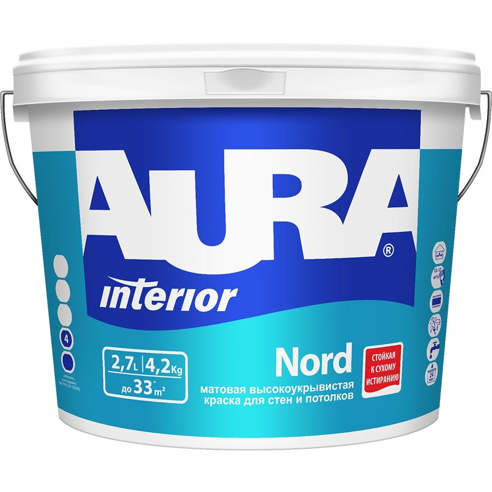 Краска AURA Nord интерьерная для стен и потолков цена и фото