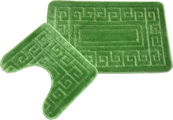 Комплект ковриков для ванной MAC Carpet Фремонт: Версаче, 23039, зеленый, 2 шт23039Комплект, состоящий из коврика с вырезом под унитаз и коврика в размере 50х80 станет незаменимым аксессуаром для ванной комнаты. Мягкие, приятные на ощупь коврики легко стираются и чистятся.
