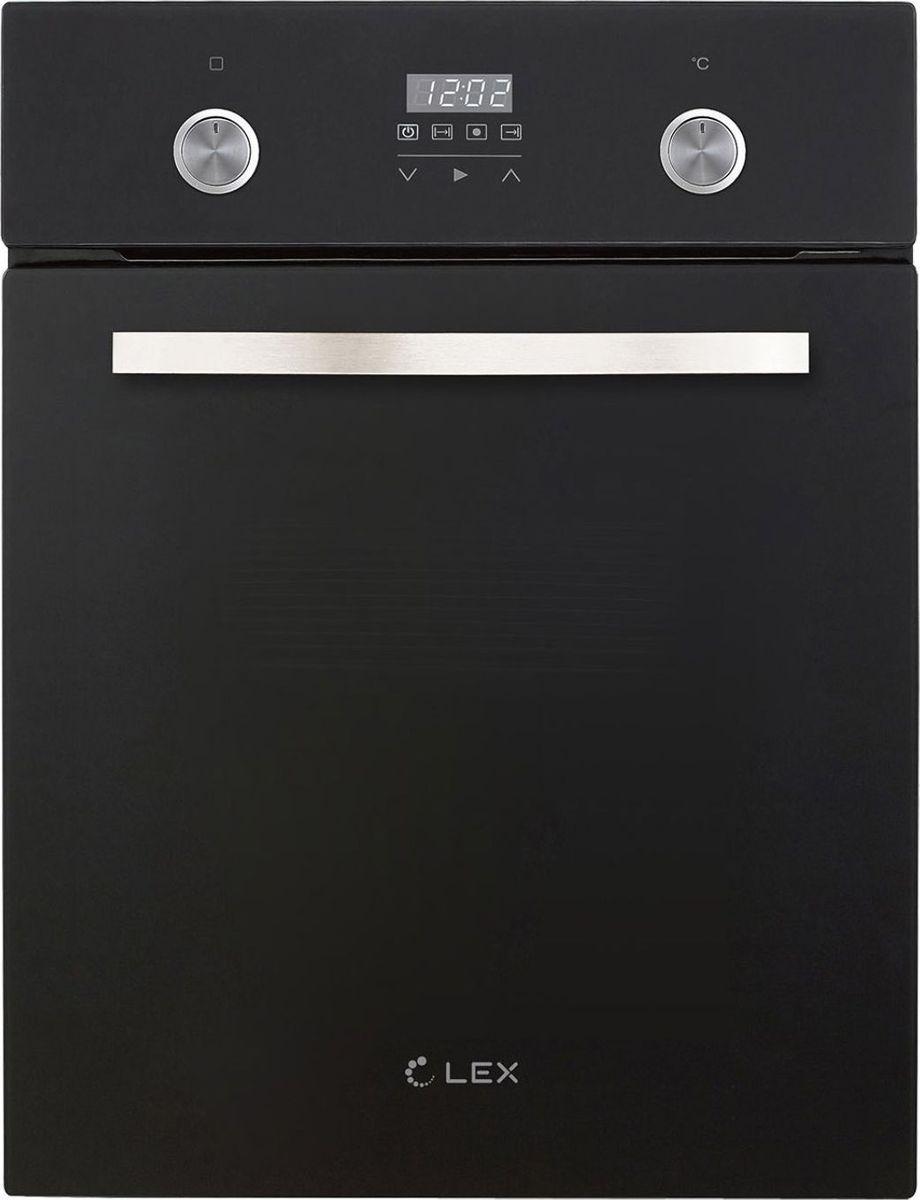 Духовой шкаф Lex EDP 4590 BL Matt Edition, черный матовый духовой шкаф электрический lex edp 092 bl