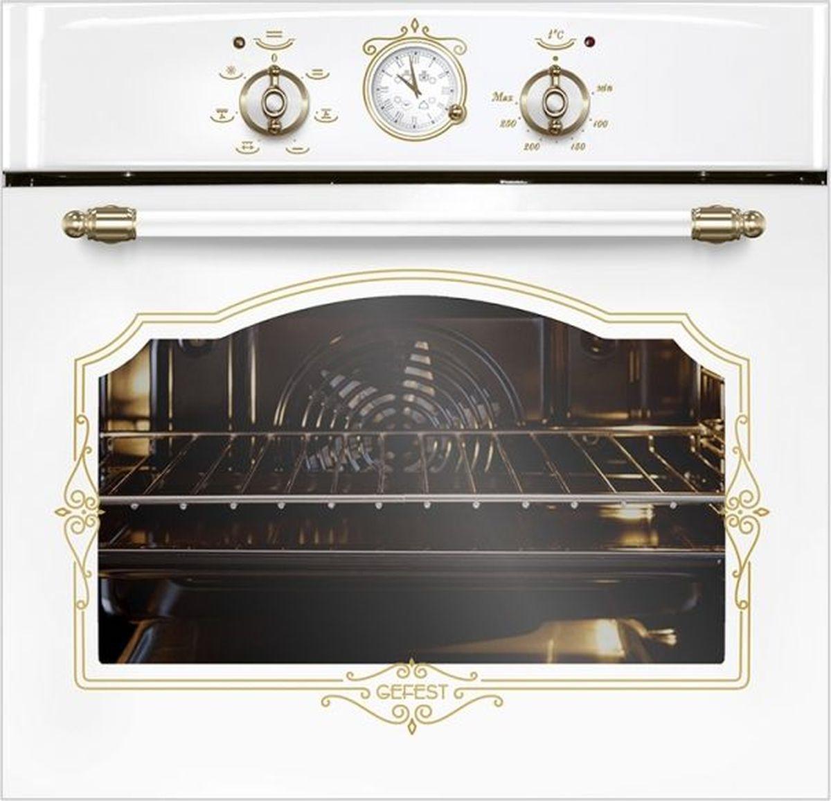 Фото - Духовой шкаф Gefest ЭДВ ДА 602-02 К82, белый электрический шкаф gefest эдв да 602 02 к55 кремовый