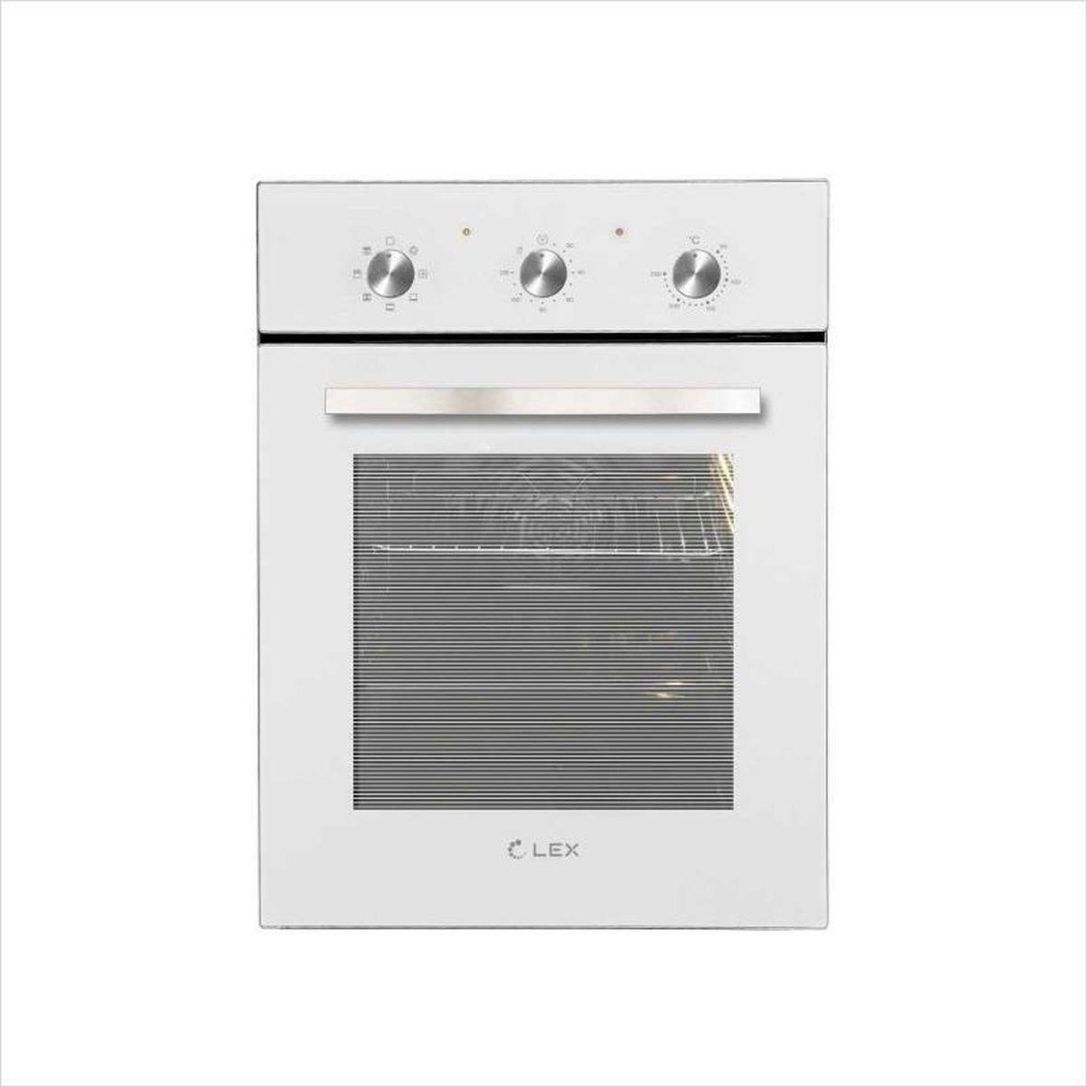 Духовой шкаф электрический Lex EDM 4570 WH, стекло белое, нержавеющая сталь