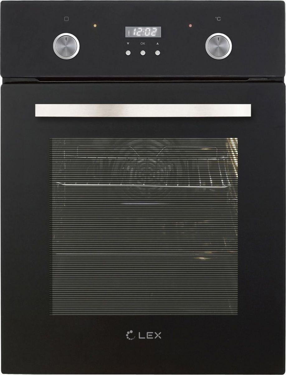 Духовой шкаф электрический Lex EDP 4571 BL, стекло черное цена и фото