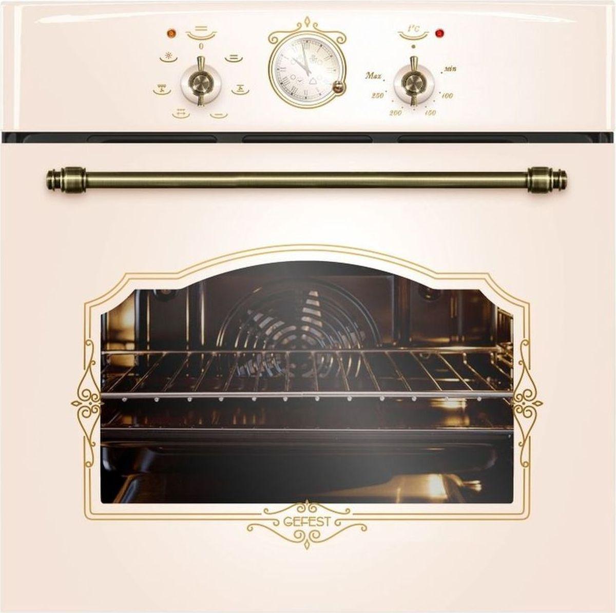 Духовой шкаф электрический Gefest ЭДВ ДА 602-02 К55, цвет: кремовый духовой шкаф gefest эдв да 622 03 рн3 электрический встраиваемый