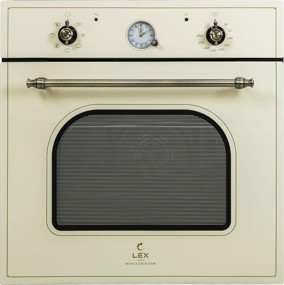 Духовой шкаф Lex Classico EDM 070C IV стекло, слоновая кость