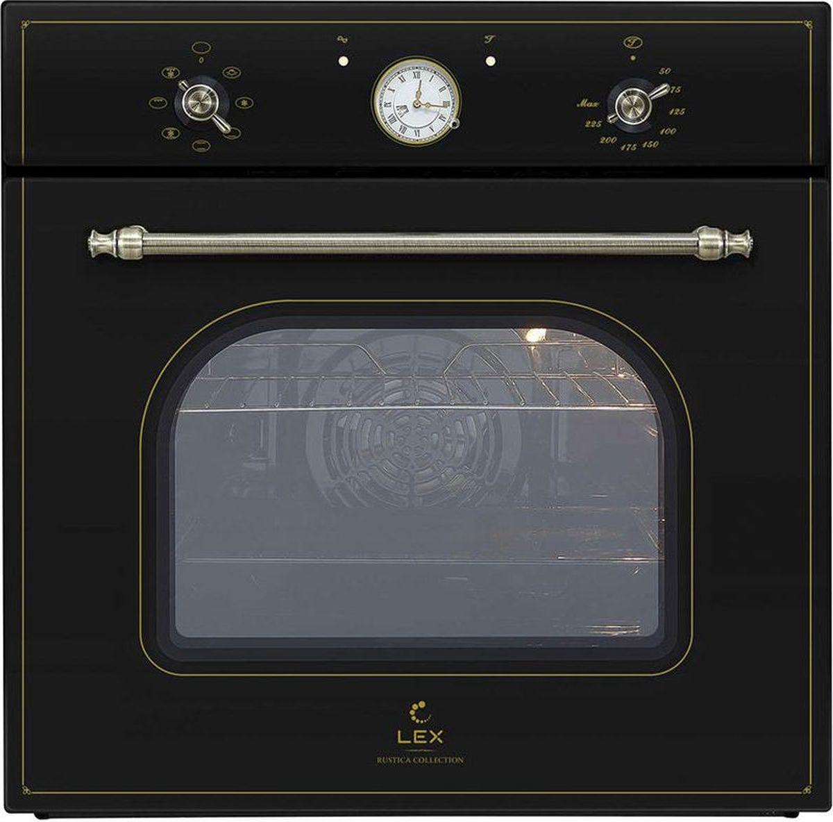 цена на Духовой шкаф Lex Classico EDM 070C BL, стекло черное
