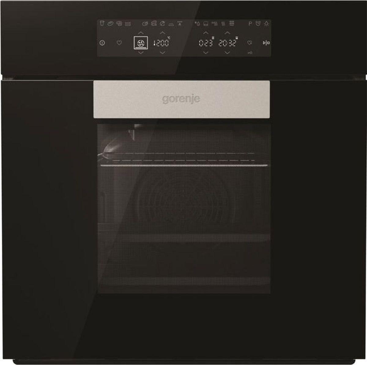 Духовой шкаф Gorenje Karim Rashid BO658KRB, стекло черное духовой шкаф электрический gorenje bo635e20b 2 черный