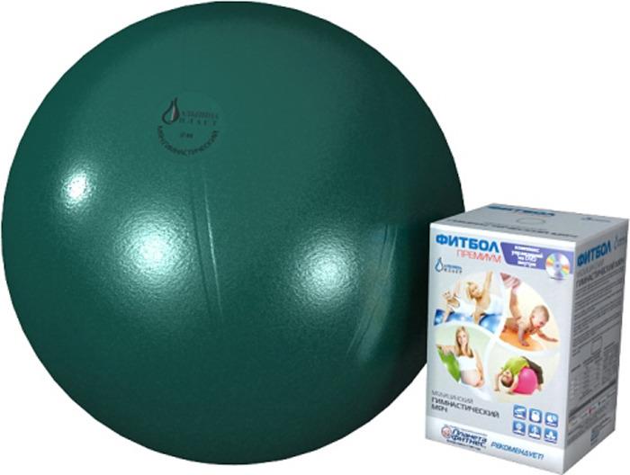 Мяч гимнстический Альпина Пласт Фитбол Премиум, 4010651142, изумруд, диаметр 65 см альпина пласт аспиратор с твердым наконечником б1 1