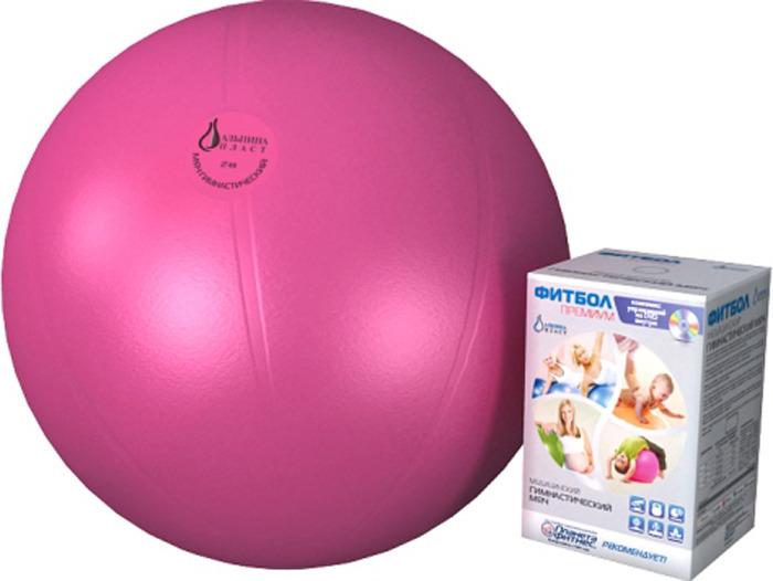 Мяч гимнстический Альпина Пласт Фитбол Премиум, 4010751132, рубин, диаметр 75 см альпина пласт аспиратор с твердым наконечником б1 1