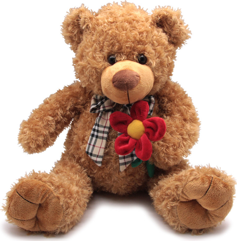 """Мягкая игрушка Magic Bear Toys """"Мишка с цветком"""", SAL5227-F, 40 см"""