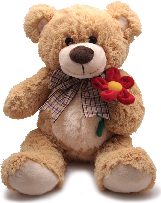 "Мягкая игрушка Magic Bear Toys ""Медведь Марвин с цветком"", SAL5211-F, 40 см"