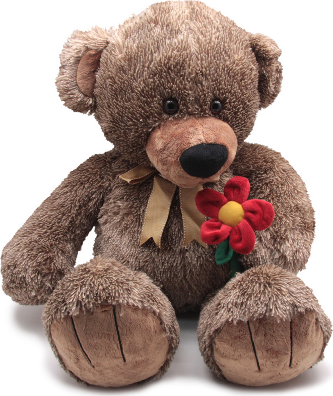 """Мягкая игрушка Magic Bear Toys """"Медведь с бантом, с цветком"""", SAL5214-F, 50 см"""