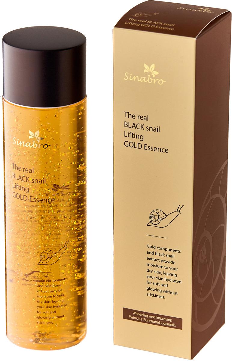 Эссенция для лица и тела Sinabro, золотая, с лифтинг-эффектом, с экстрактом настоящей черной улитки, 250 мл