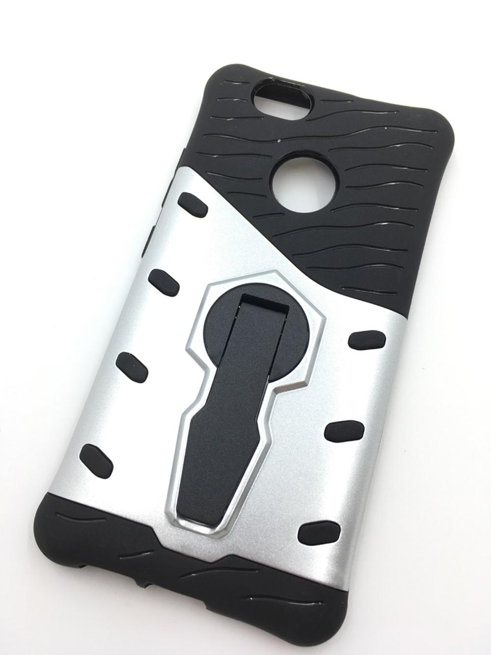 Чехол для сотового телефона Мобильная мода Huawei Nova Накладка противоударная, пластик, резина, подставка, 7 051D, светло-серый