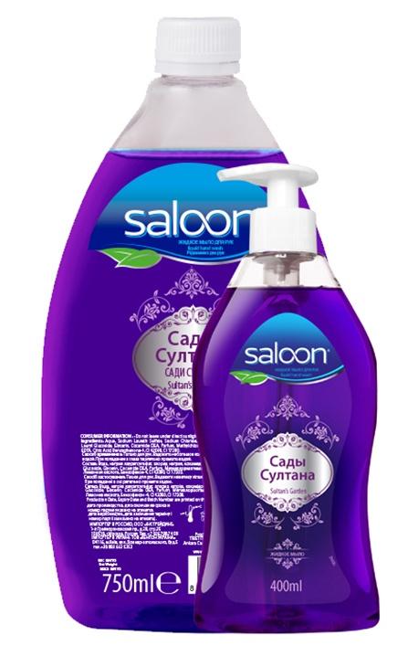 Фото Жидкое мыло Saloon Салун для рук Сады Султана 400+ 750 мл