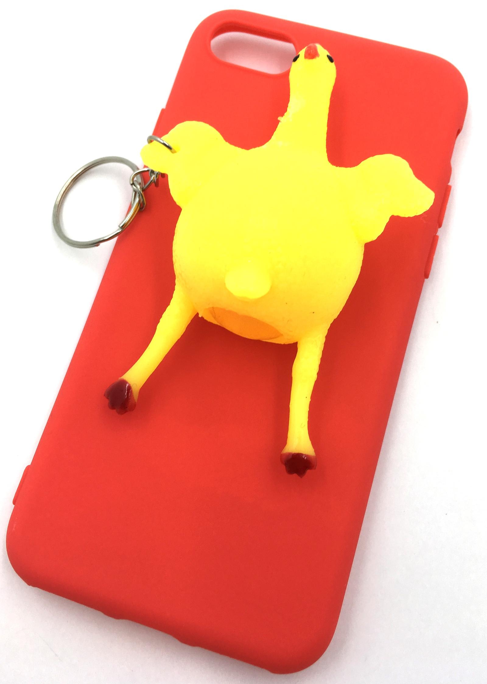 лучшая цена Чехол для сотового телефона Мобильная мода iPhone 7 Накладка резиновая 3D, Курица, красный