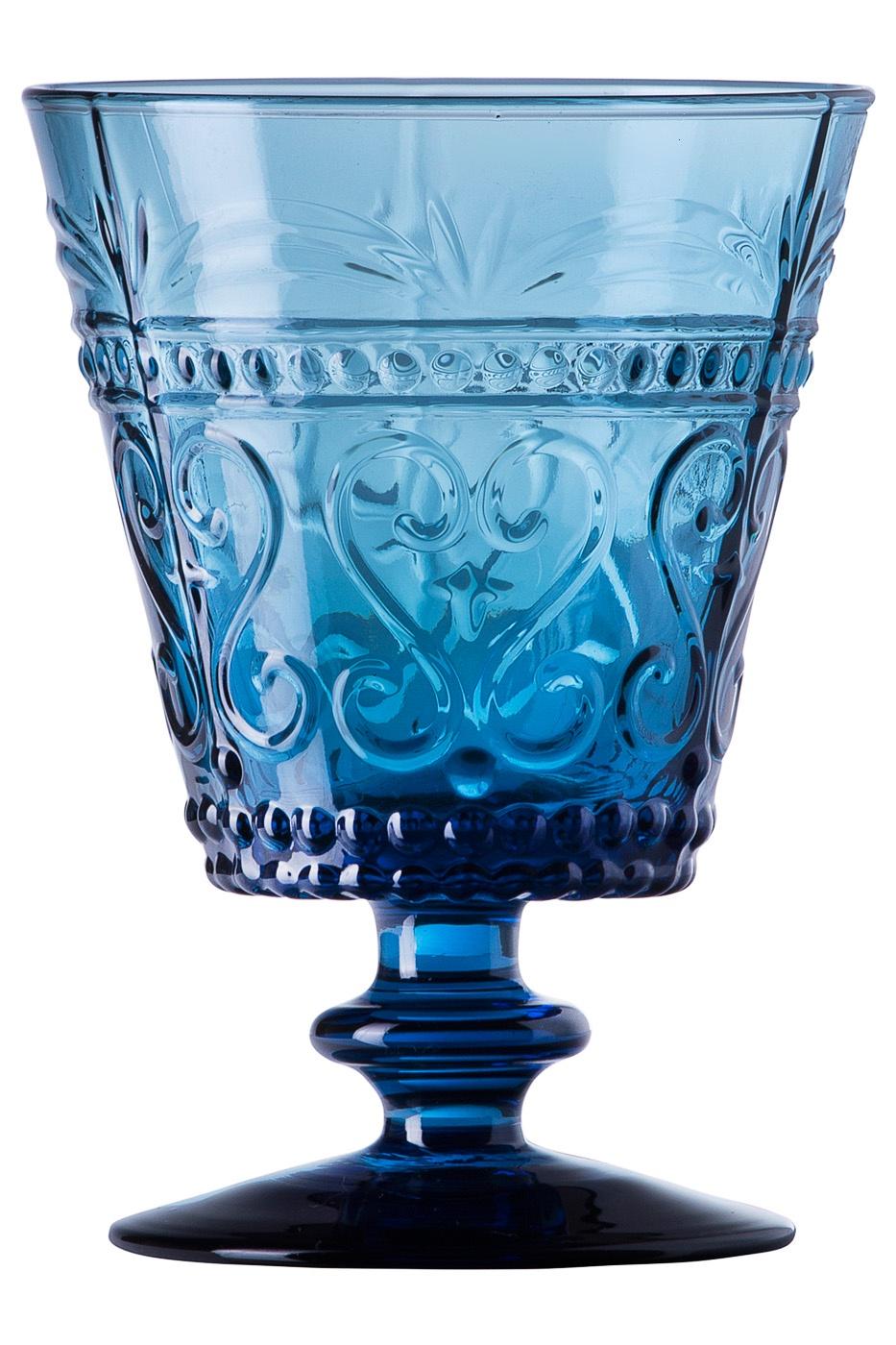 """Бокал Zafferano PV00603, голубойPV00603В самой демократичной по цене серии """"Provenzale"""" итальянского бренда Zafferano вы встретите коллекцию бокалов для воды/сока, бокалы для вина, тарелки десертные и обеденные, блюда и чаши, кувшины, емкости для хранения.Особенность данной серии, в ее стиле. Он позаимствован из далеко прошлого и в целом относится к стилю """"винтаж"""".Коллекция выполнена из цветного стекла, ручная работа.Можно мыть в посудомоечной машине при температуре не более 60 C?."""