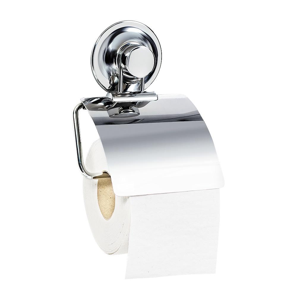Держатель для туалетной бумаги Tatkraft Ring Lock настенный, 17245, хром крючок двойной вакуумный tatkraft richard hard для ровных поверхностей диаметр 6 5 см