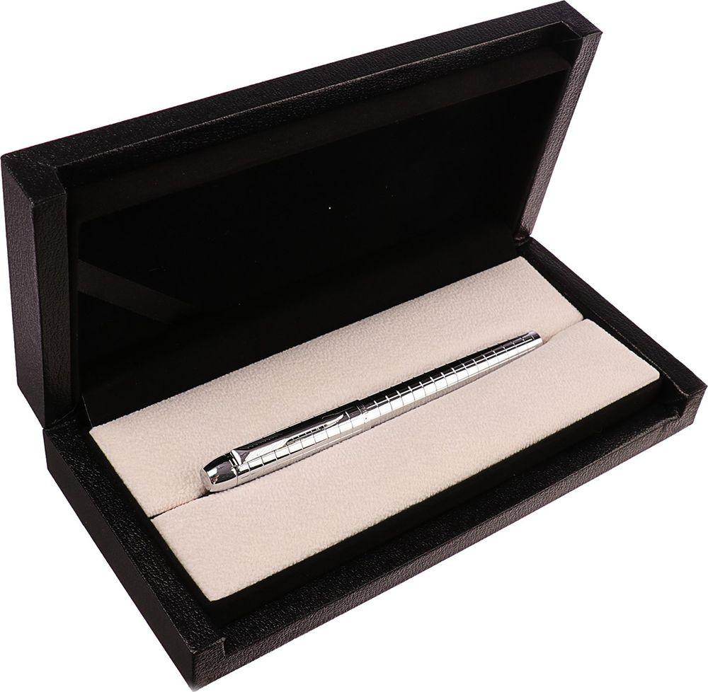 Ручка подарочная перьевая Calligrata  Самсолло , 3604840, в футляре, корпус серебристый