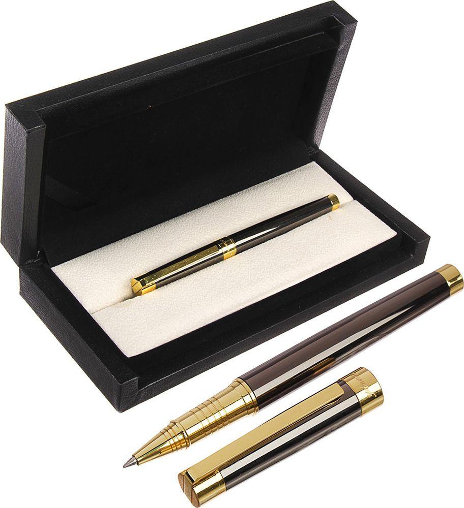 Ручка подарочная шариковая Calligrata  Грант , 3604861, в футляре, корпус серый, золотой