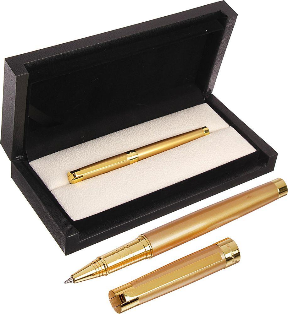 Ручка подарочная шариковая Calligrata  Грант , 3604862, в футляре, корпус золотой