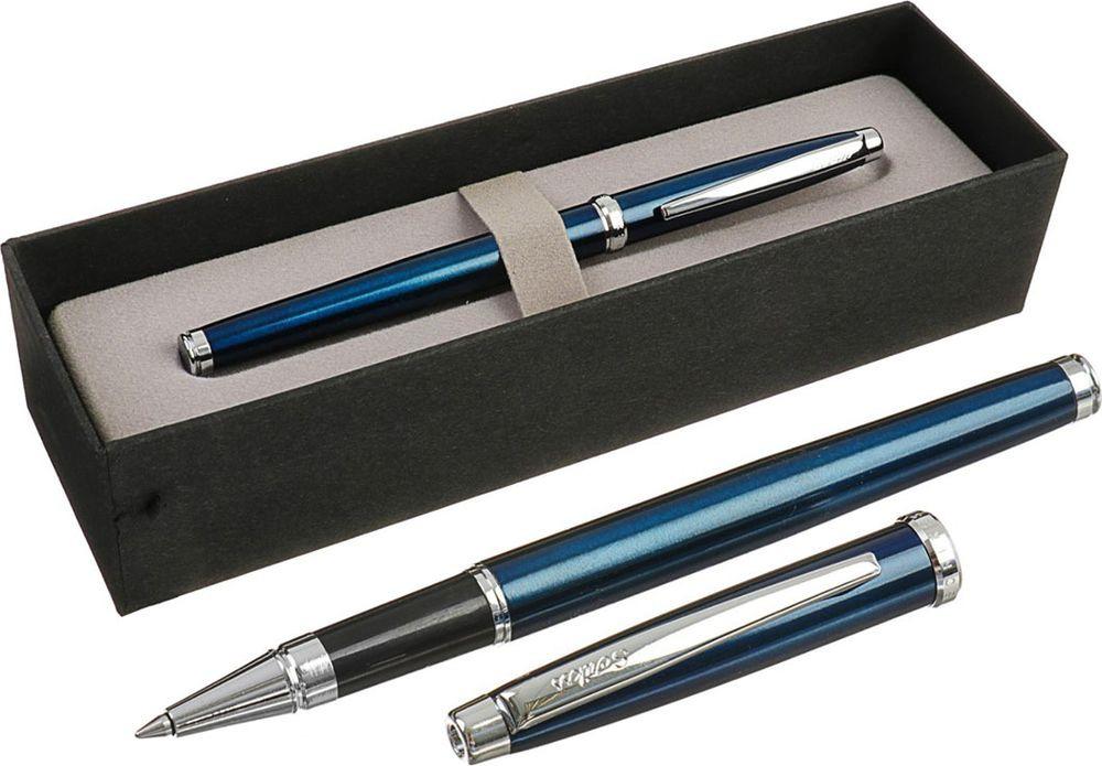 Ручка-роллер подарочная шариковая Scrikss Metropolis 800, 3794788, в футляре, корпус синий