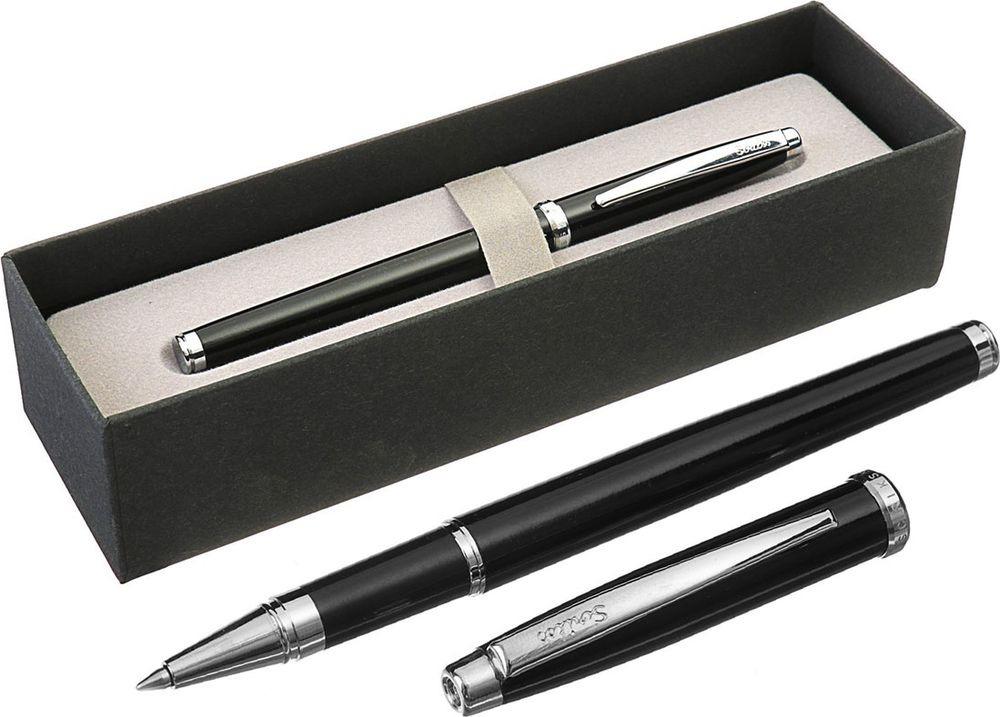 Ручка-роллер подарочная шариковая Scrikss Metropolis 800, 3794789, в футляре, корпус черный
