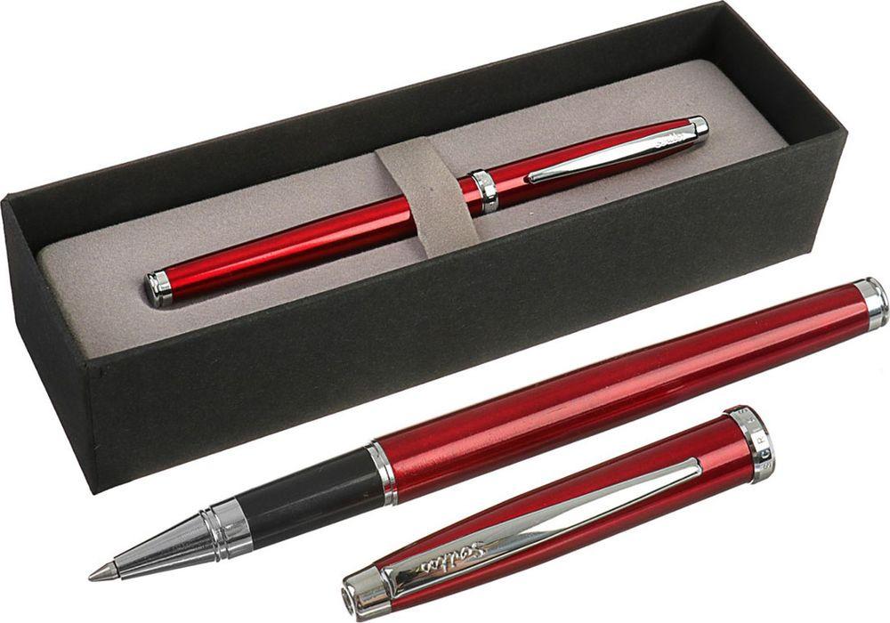 Ручка-роллер подарочная шариковая Scrikss Metropolis 800, 3794791, в футляре, корпус бордовый