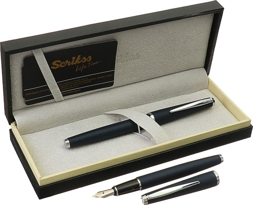 Ручка подарочная перьевая Scrikss Vintage 53С, 3794803, в футляре, корпус черный