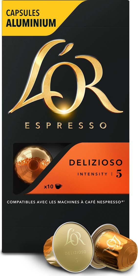 Кофе в алюминиевых капсулах L'OR Espresso Delizioso, 10 шт кофе капсульный pellini nespresso magnifico 10 шт