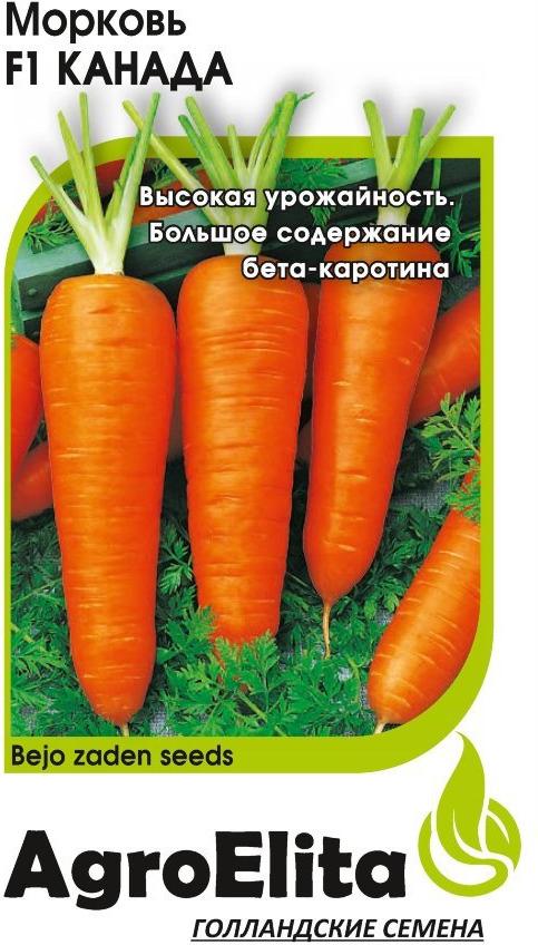 Семена АгроЭлита Морковь Канада F1, 1912237340, 0,3 г