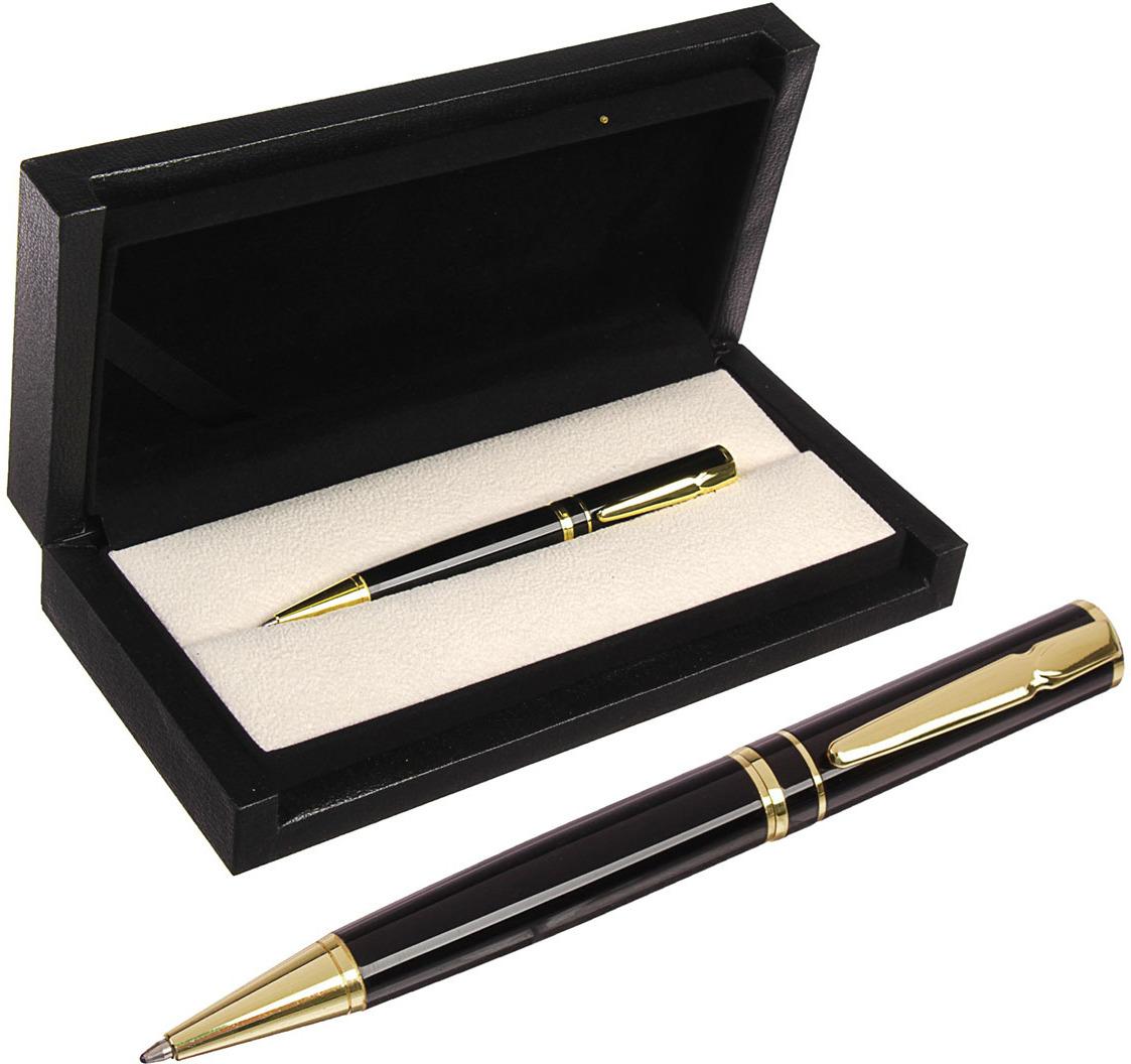 Ручка подарочная шариковая Calligrata  Проект , 3604819, в футляре, поворотная, корпус черный