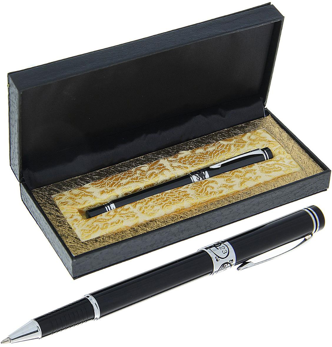 Ручка подарочная капиллярная Calligrata  Галант , 634803, в футляре, корпус черный