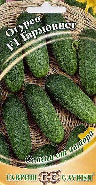 Семена Гавриш Огурец Гармонист F1, 4601837, 10 шт4601837Скороспелый (39-42 дня от всходов до плодоношения) партенокарпический гибрид женского типа цветения, предназначен для выращивания в открытом и защищенном грунте. Зеленец цилиндрической формы длиной 10-12 см, массой 90-100 г, бугорки мелкие, расположены часто. В каждой пазухе листа образуется 6-8 завязей. Посев на рассаду производят в конце апреля – начале мая. Высадку в грунт производят в конце мая - начале июня в фазе двух-трех настоящих листьев под временные пленочные укрытия. Посев в открытый грунт производится в конце мая - в начале июня. Использование плодов универсальное (в свежем виде, засолка, маринование). Гибрид устойчив к настоящей и ложной мучнистым росам, оливковой пятнистости и корневым гнилям. Урожайность 12-13 кг/м2 Оптимальная для прорастания семян температура почвы 25-30 °C.