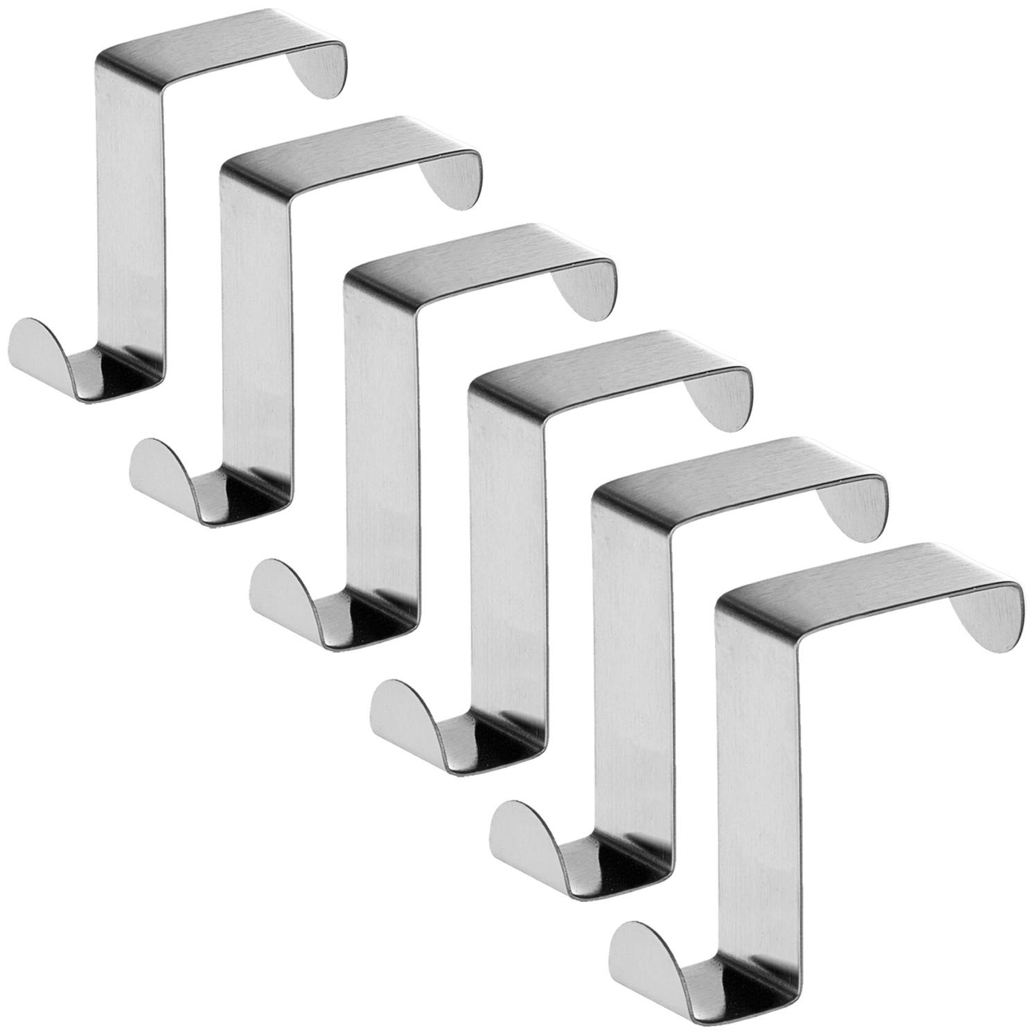 Крючки для дверей и выдвижных шкафов Tatkraft SEGER, 19638, 6 шт полоски самоклеящиеся tatkraft mirakel для рамок цвет белый 4 шт