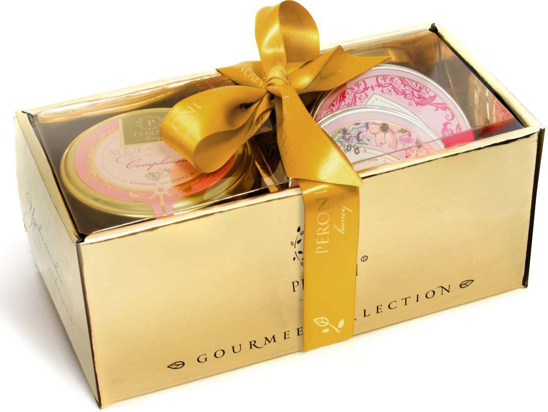 Набор мед-суфле Peroni Новогодний комплимент № 3, 250 г + мыло медовое, 95 г + эко-свеча, 95 г