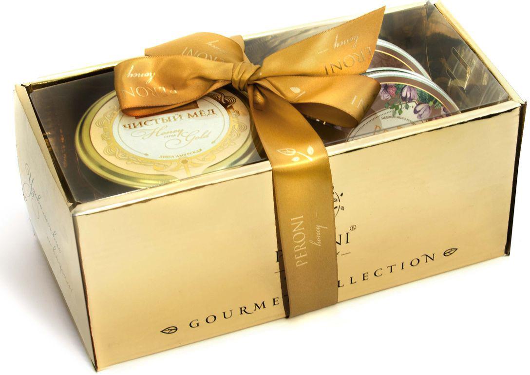 Набор мед Peroni Honey Gold №2, 290 г + мыло медовое, 95 г + эко-свеча, 95 г peroni diamond collection подарочный набор меда 320 г