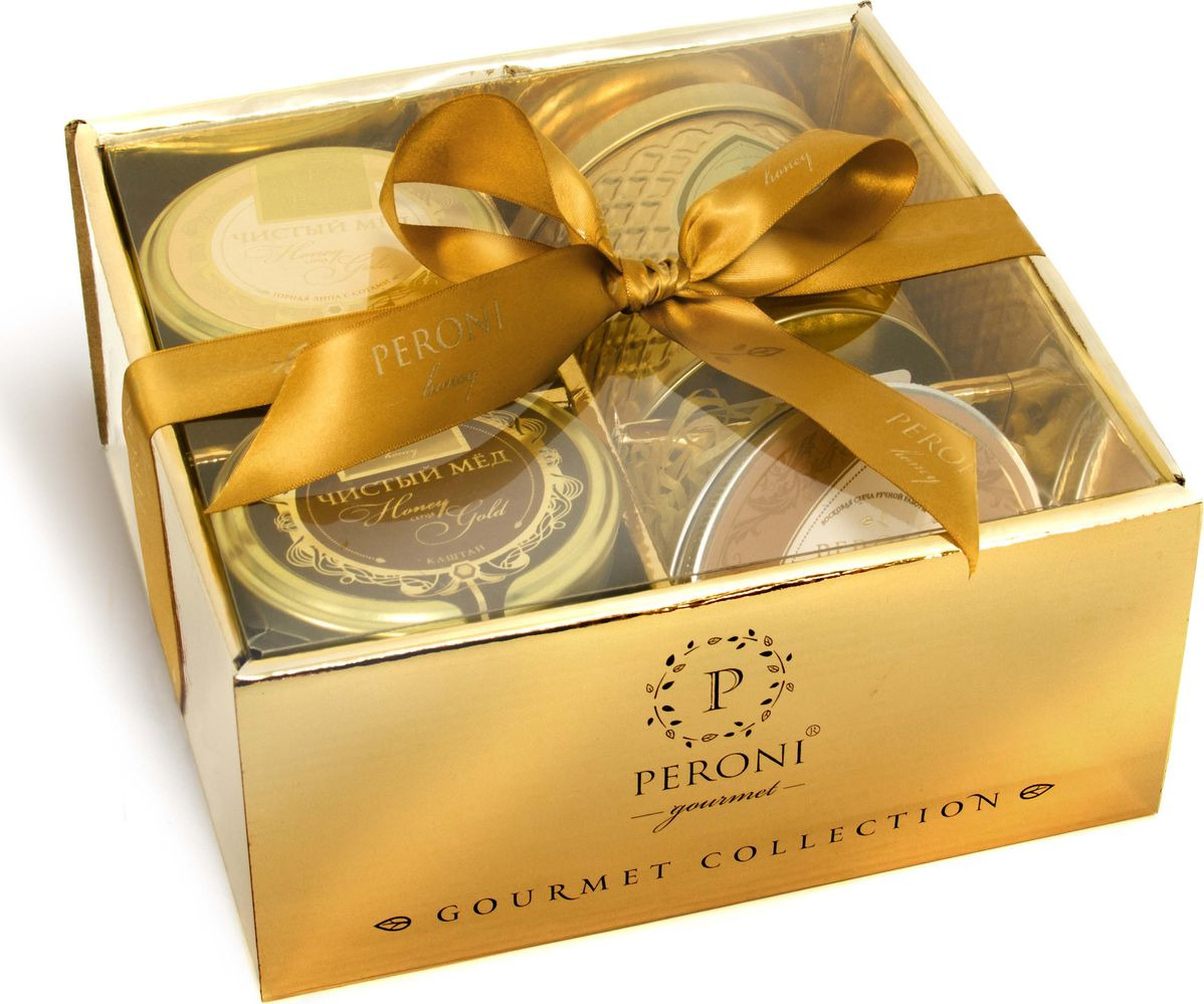 Набор мед Peroni Honey Gold №6, 2 шт по 290 г + чай Масала со специями, 70 г + эко-свеча, 95 г peroni diamond collection подарочный набор меда 320 г